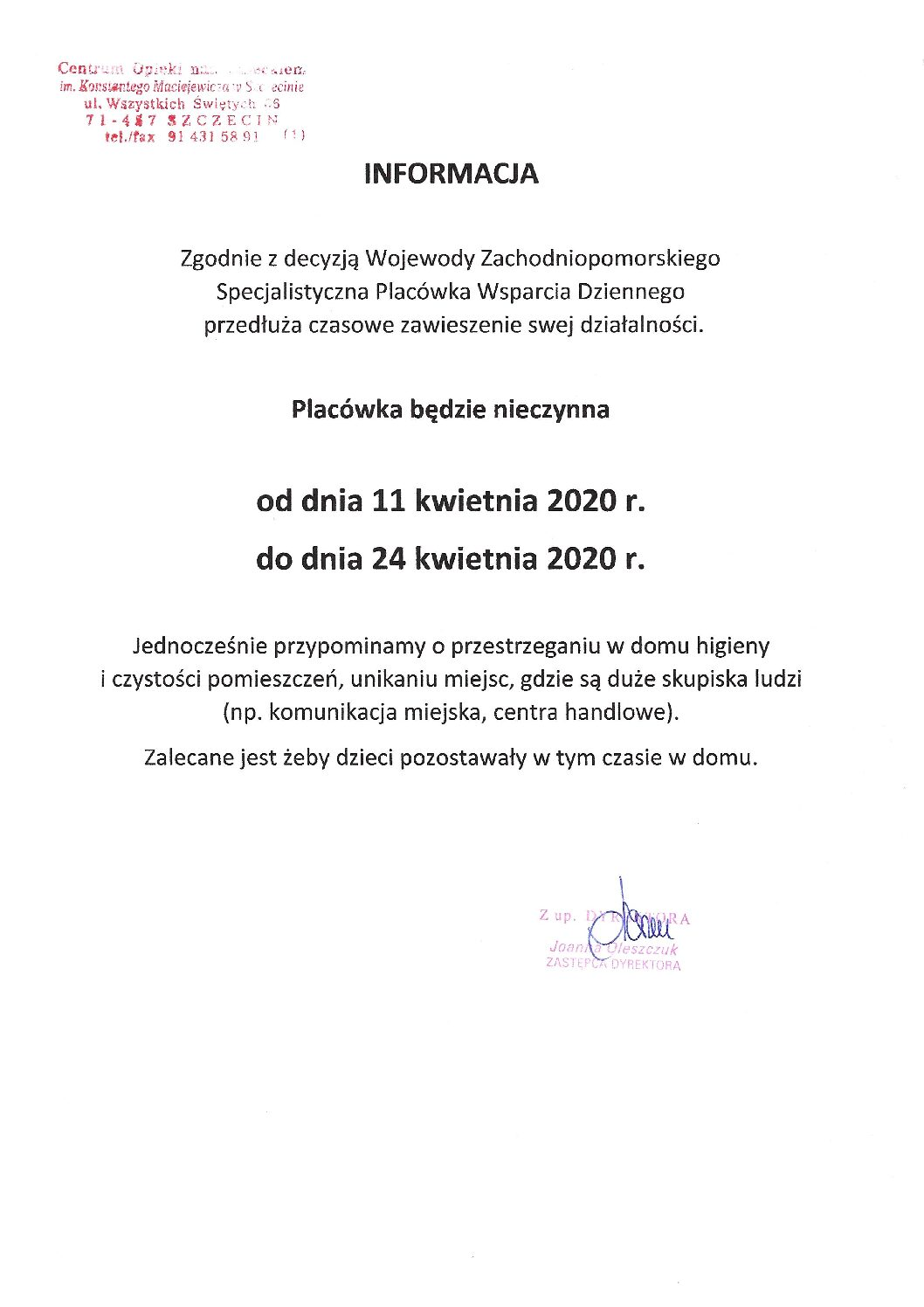 Informacja SPWD