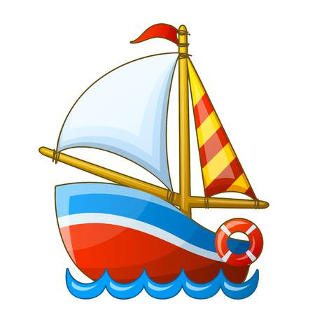 45286929-sailing-vessel-isolated-on-white-background-cartoon-vector-illustration-